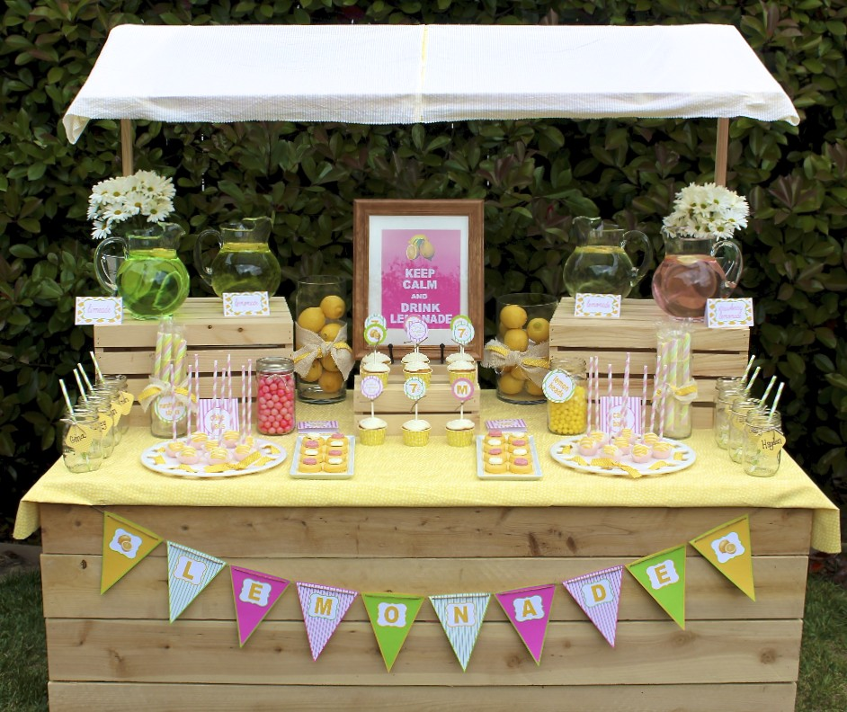 Lemonade Stand Party Ideas A to Zebra Celebrations