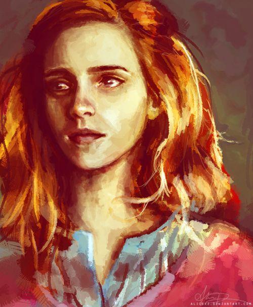 Alice X. Zhang alicexz deviantart pinturas de filmes séries Hermione (Emma Watson)