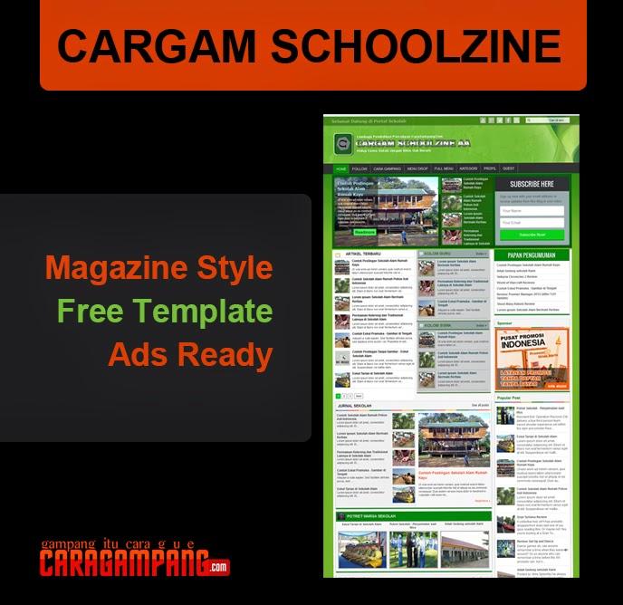 Template Blog untuk Portal Sekolah Online