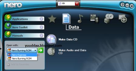 Software Nero Membuat File ISO CD