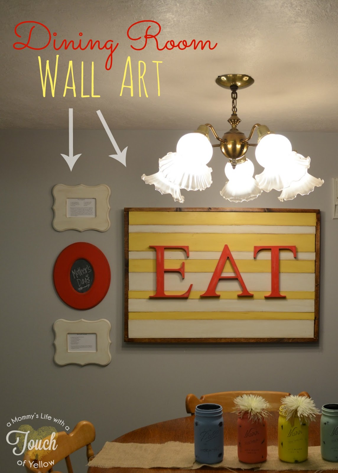 Poppy seed projects guest post diy dining room wall art Dining wall decor ideas