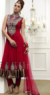 Majesty Red Salwar Kameez