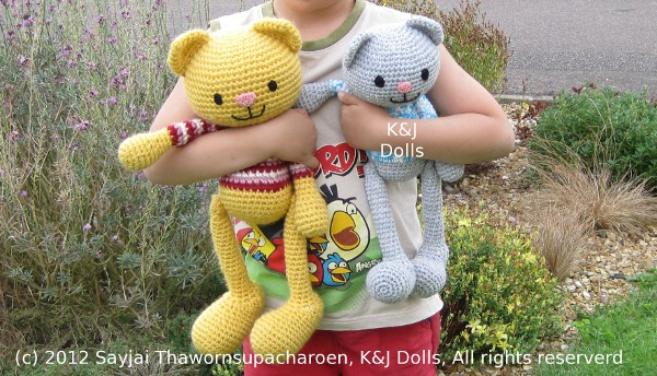 Amigurumi Arms And Legs : Huggy Cat: Big Amigurumi Doll Pattern - Sayjai Amigurumi ...