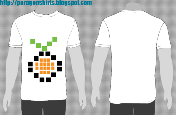 orange brick shirt design