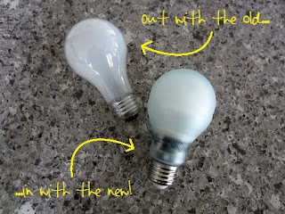 an old light bulb and a new light bulb