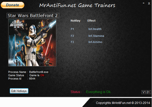Star Wars Battlefront 2 V1.1 Trainer +3 MrAntiFun