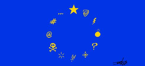 Europe's Day, Dia da Europa, União Europeia, Cartoon