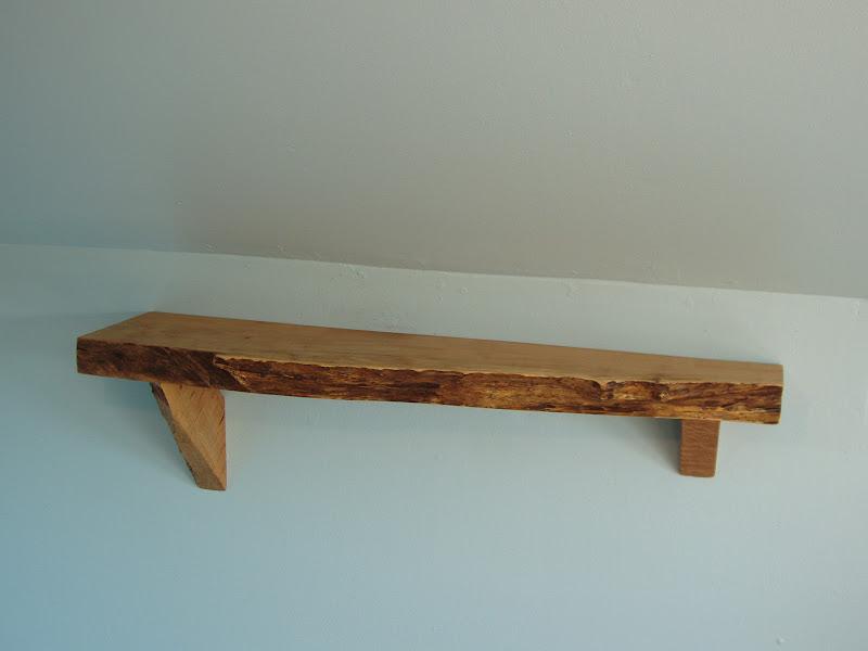 driftedge woodworking: Live Edge Maple Mantle/Shelf. $95.00