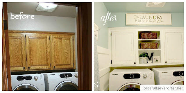 Our Laundry Room Makeover {for only $100} - Blissfully Ever After