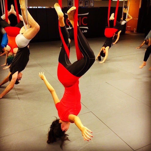 Anti-gravity Yoga at Epic MMA in Hong Kong