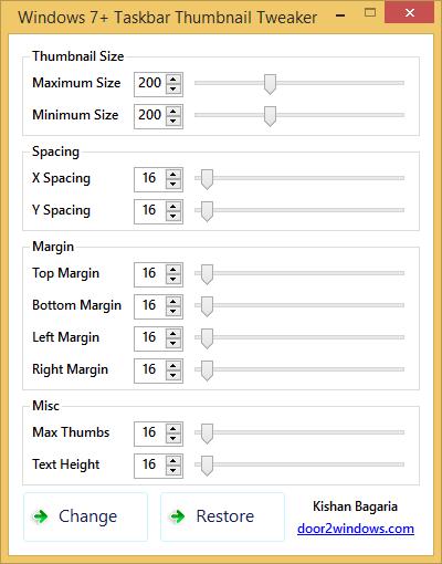 Windows 7+ Taskbar Thumbnail Tweaker omkriscom