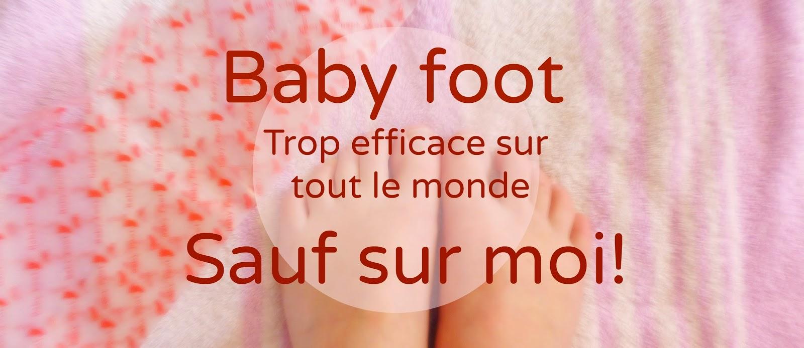 Baby Foot, les chaussettes qui vous font des pieds de bébés... mais pas à moi!