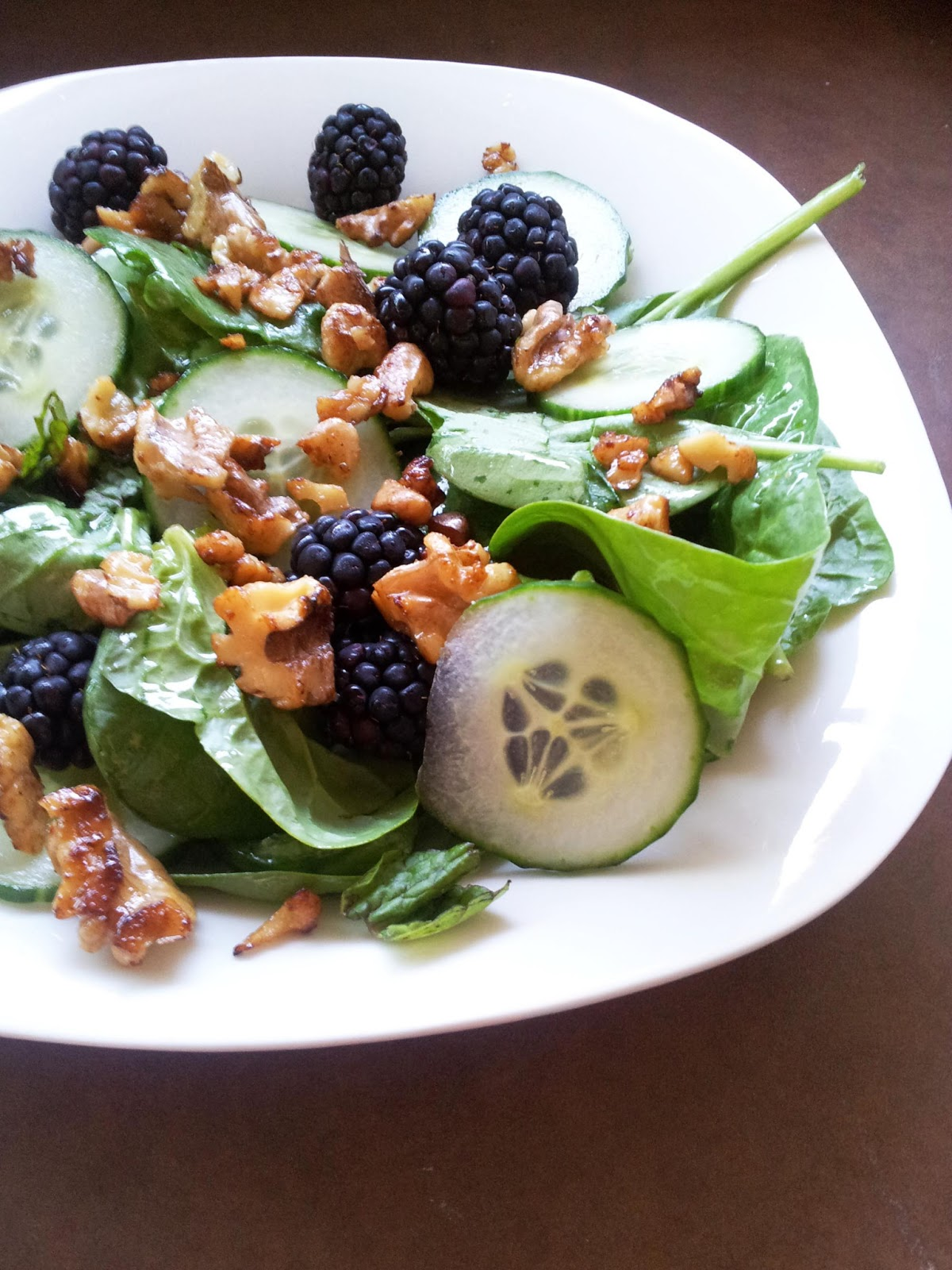 A Profound Hatred of Meat: Blackberry Cucumber Salad with ...