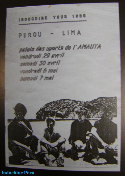 Indochine es Indochina - A 25 años del Tour 88 en Perú
