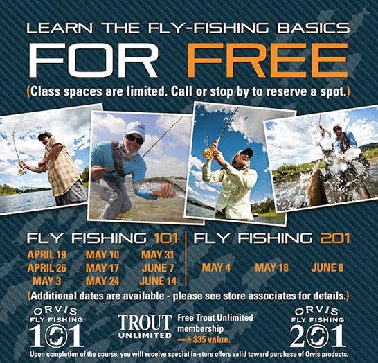 The fiberglass manifesto orvis fly fishing 101 for Orvis fly fishing 101