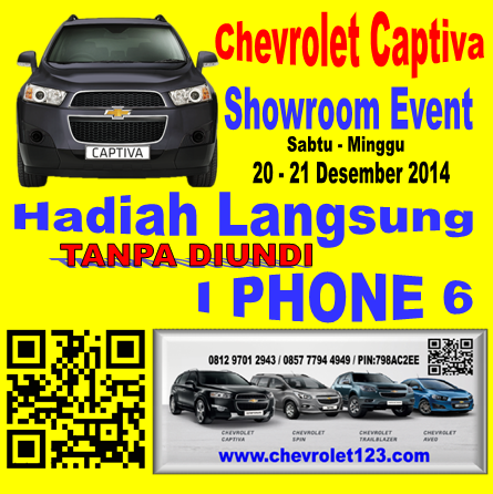 Chevrolet Captiva Bonus IPhone 6 di 081297012943