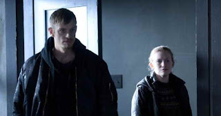 Mireille Enos and Joel Kinnaman in The Killing