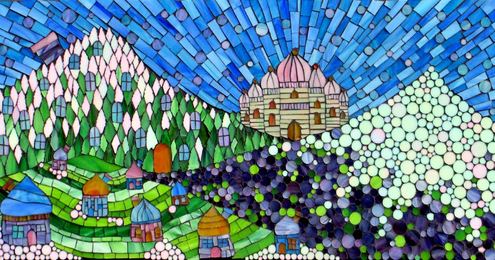 how to make stained glass mosaic art