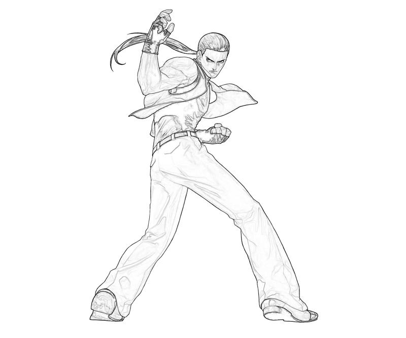 king-of-fighters-robert-garcia-skill-coloring-pages
