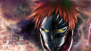 Kurosaki Ichigo Vizard Mask Bleach Anime HD Wallpaper Desktop PC Background 1882