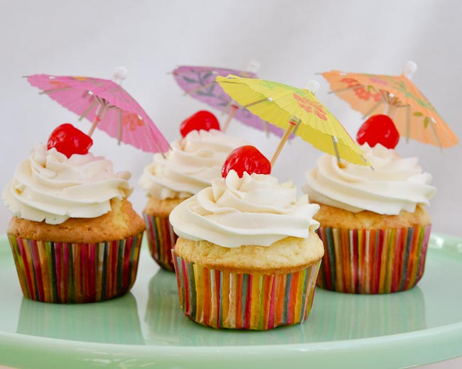 Top with a maraschino cherry and a little drink umbrella, and enjoy!