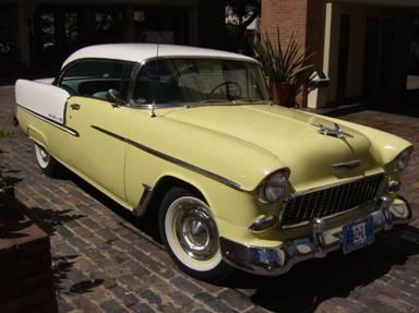 Chevrolet 1955 belair restaurado placas de antiguo y cl for 1935 plymouth 2 door sedan
