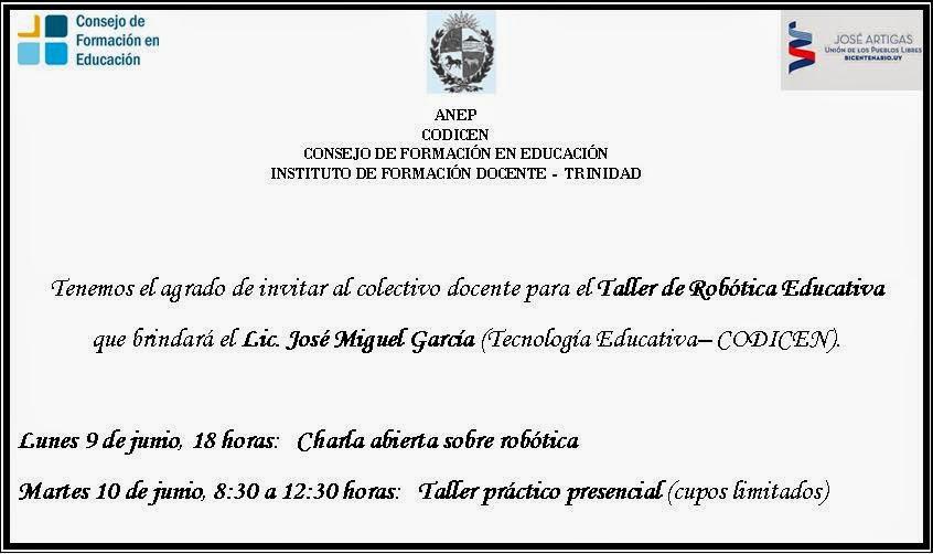 Instituto de formaci n docente charla sobre rob tica for Instituto formacion docente