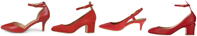 One of these pairs of red heels are new from Valentino for $875 and the other three are under $130. Can you guess which pair are the Valentino heels? Click the links below to see if you are correct!