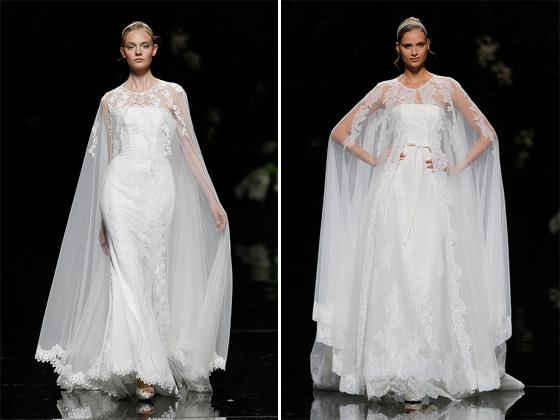 Vestidos Noiva com capas da Pronovias 2013