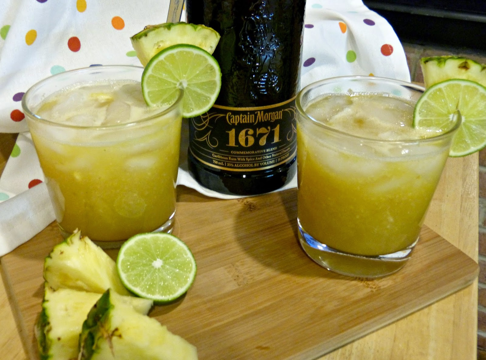 Pineapple Spiced Rum Punch with Captain Morgan 1671 Commemorative ...
