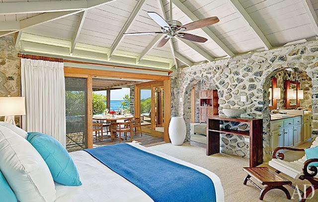 Seaside style carribean island makeover for Caribbean themed living room