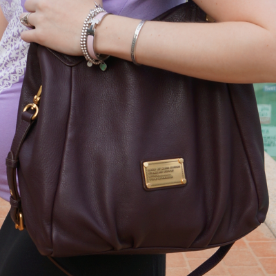 Marc by Marc Jacobs Carob Brown Fran Bag worn on shoulder