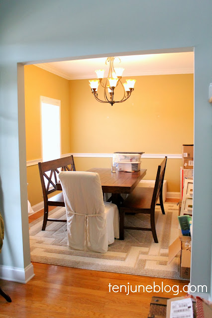 Ten June: Dining Room Paint Makeover- Sherwin Williams Agreeable Gray