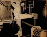 Máquina antigua para ejercicios