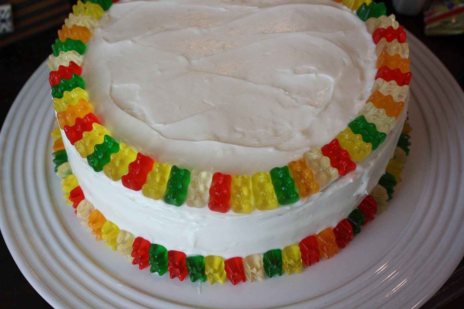 Auntie Caitlins Creations Gummy Bear Birthday Cake