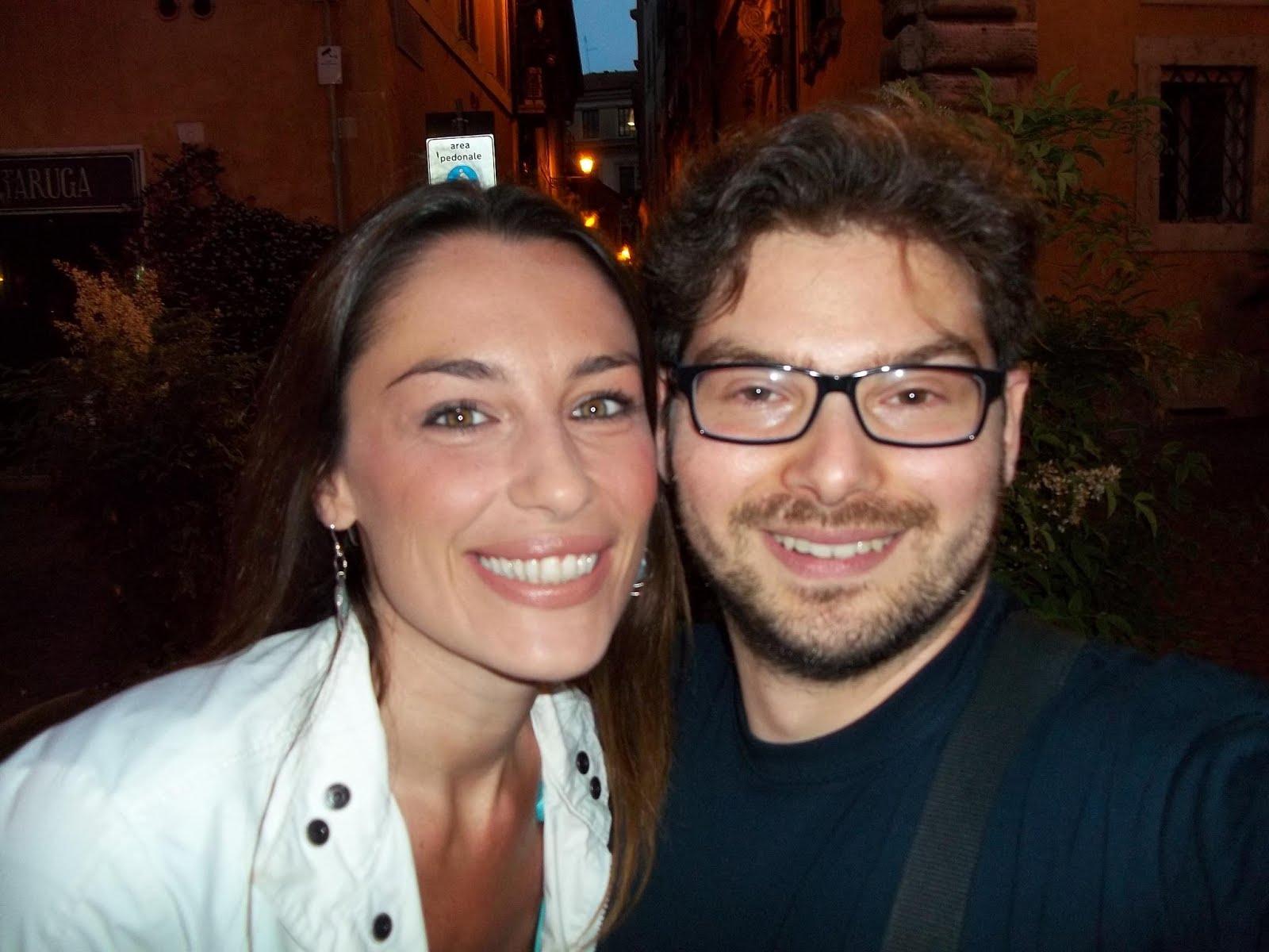 Luca Bagatin con l'attrice Patricia Vezzuli (giugno 2012)
