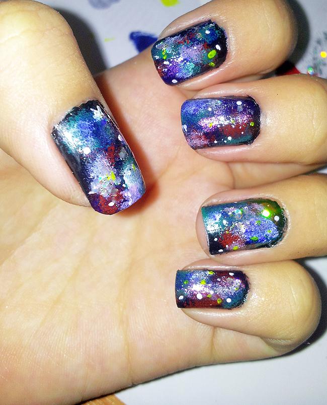 Galaxy Nails Tutorial: Miss Tiffany H ★: Nail Tutorial : Galaxy Nails