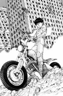 L'art de Katsuhiro Otomo - Akira - Kaneda sur sa moto cross