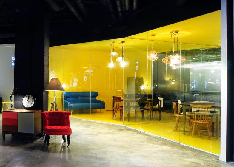 ilia estudio interiorismo showroom audiovisual y mobiliario en el soho. Black Bedroom Furniture Sets. Home Design Ideas