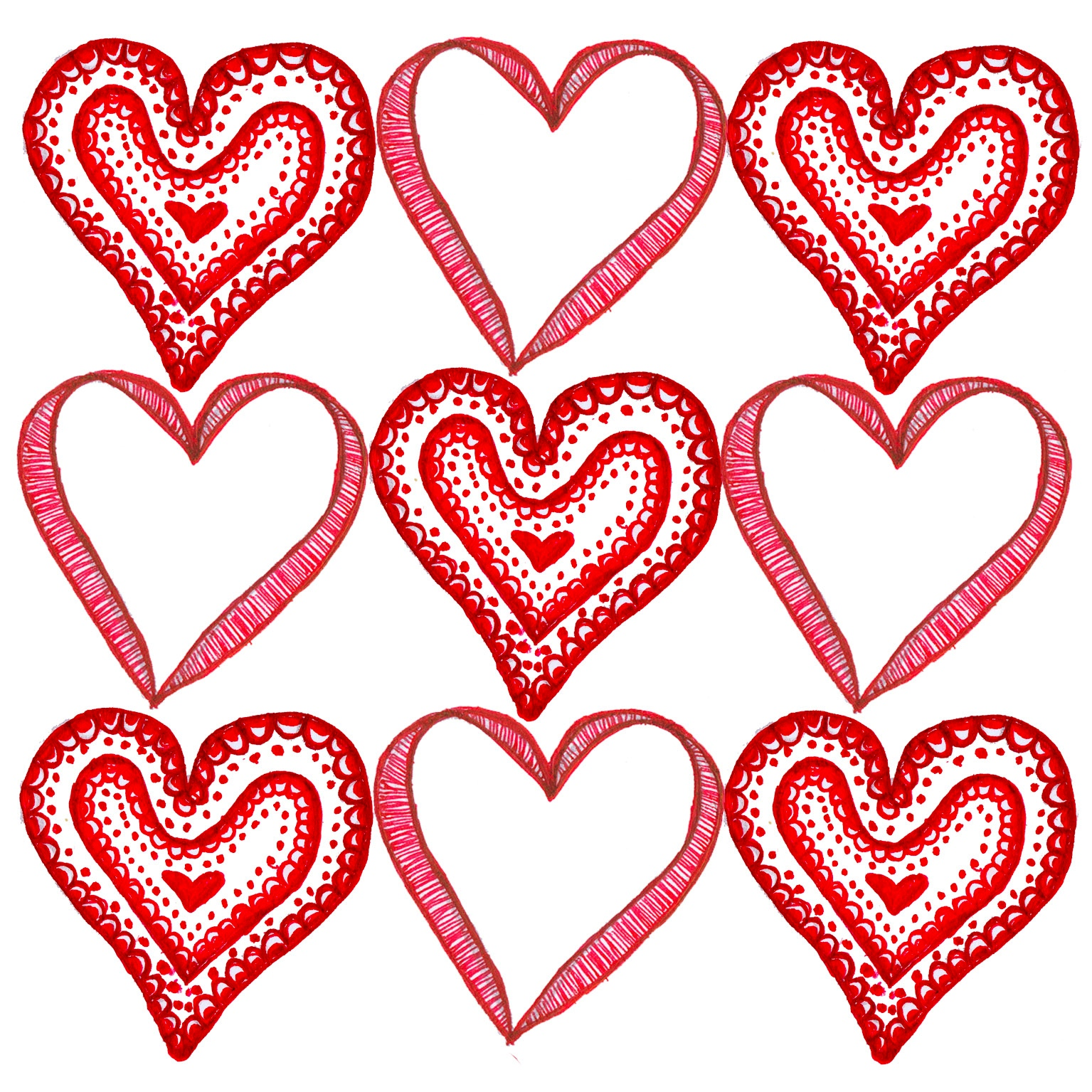 Amazing Valentine's Day Heart Card Template 1535 x 1535 · 1006 kB · jpeg