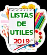 LISTAS DE UTILES 2019