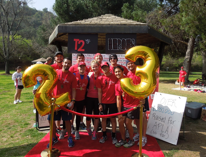 T2 Team To End AIDS runners 2012