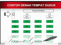 Download Contoh Denah Duduk Siswa Ujian dan Administrasi lainnya