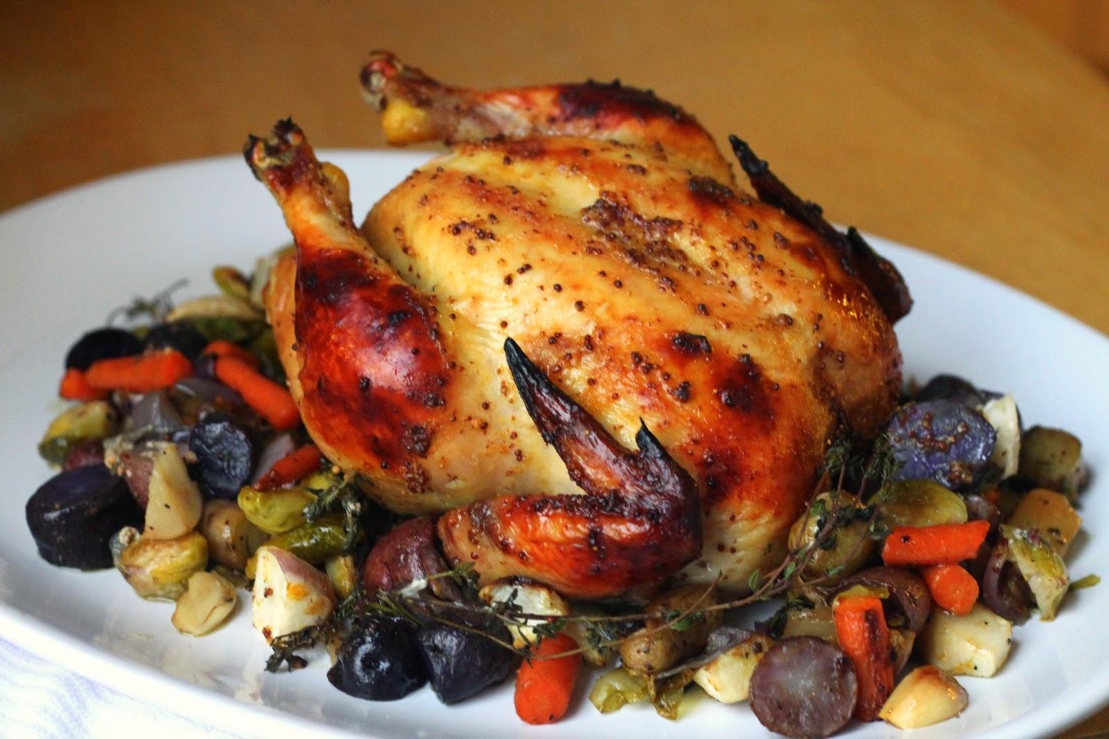 Запеченная курица с овощами пошаговое фото