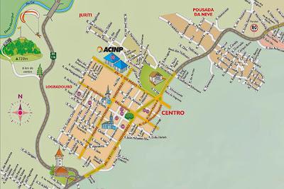 Mapa turístico de Nova Petrópolis – RS