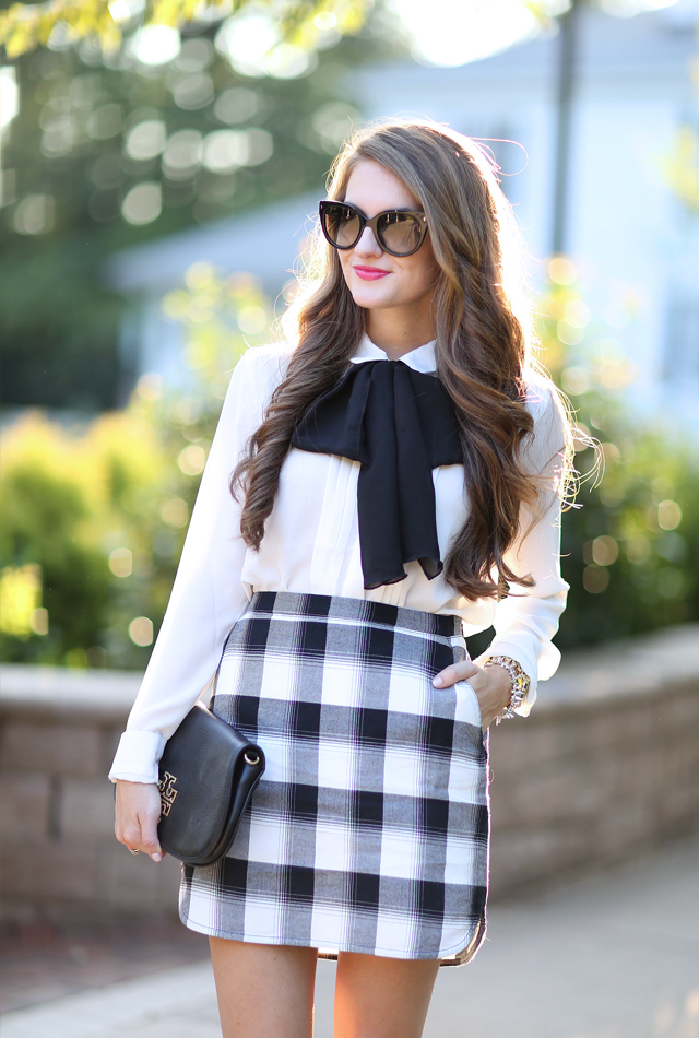 Love this plaid skirt for fall