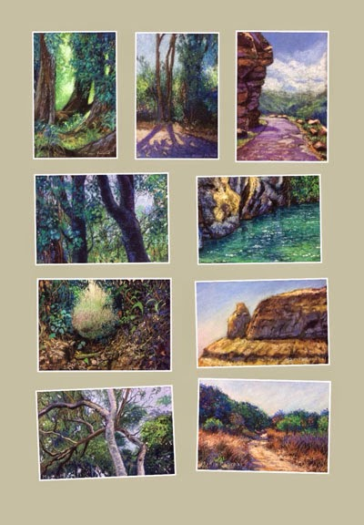 Original soft pastel landscape paintings by Manju Panchal