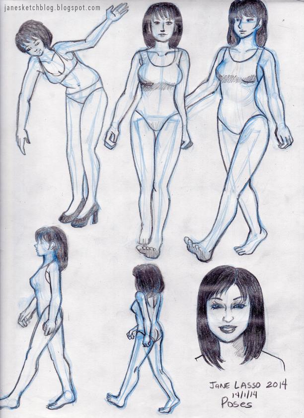 Dibujo de poses de mujeres