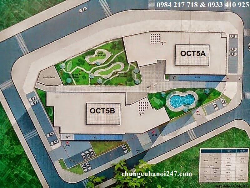 Mặt bằng tổng thể dự án chung cư OCT5 Resco Cổ Nhuế