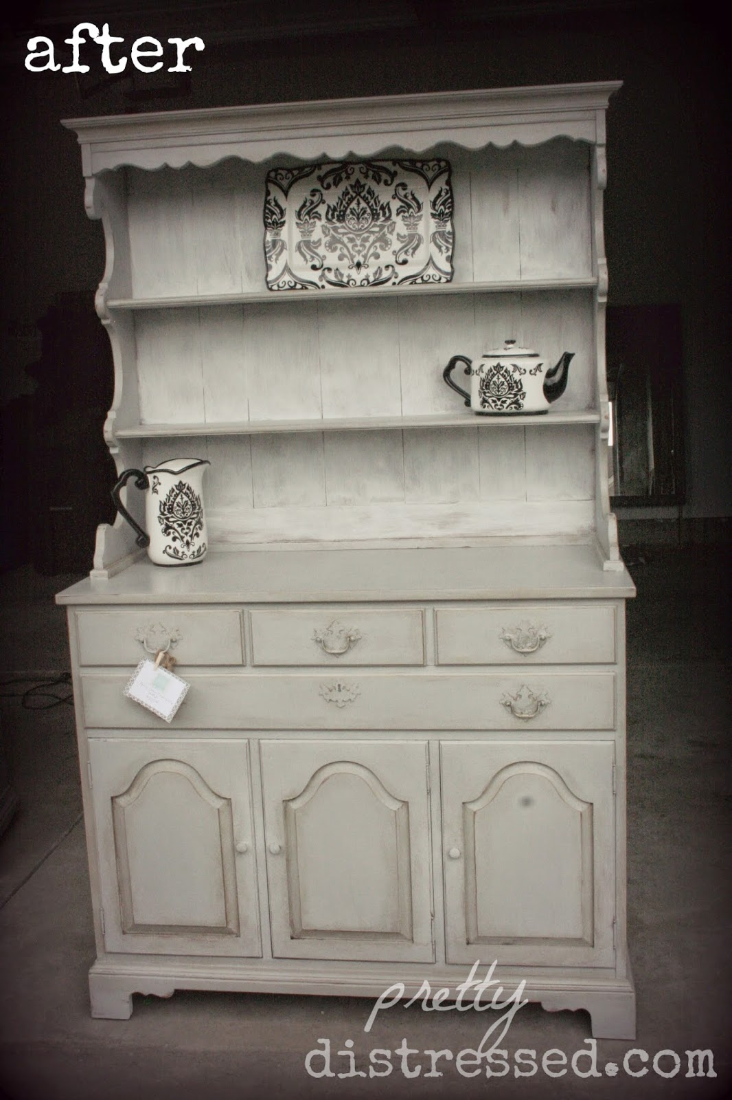 paris grey kitchen hutch